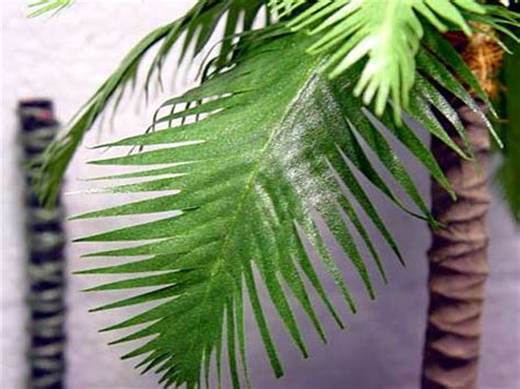 How To Make Paper Palm Leaves - make palm tree with tree branch and artificial leaves