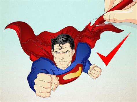 superman image how to draw superman 13 steps with pictures wikihow