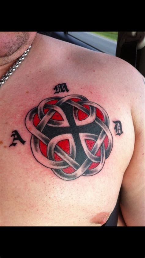 my celtic knot tattoo that is the symbol for father