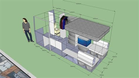 sprinter van conversion floor plans layout help sprinter forum 2compact travel pinterest