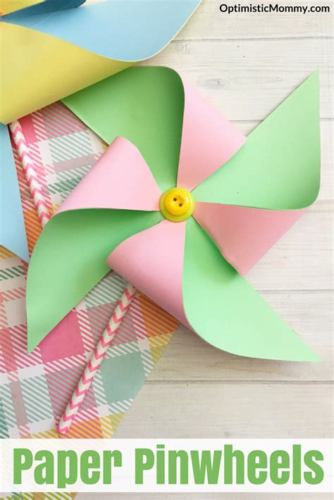 How To Make Pinwheel Flowers From Paper - paper pinwheels tutorial craft for