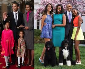 the obama s time flies the obama family at the beginning of obama s