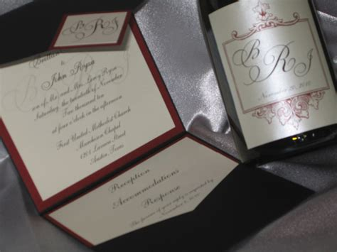 wine label wedding invitations pocket invitation and wine bottle label wedding invitations and the hill country