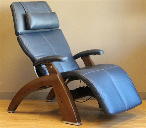 navy blue leather recliner chair navy blue top grain leather with a walnut wood base series