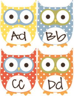 printable alphabet owl just reed my classroom is slowly coming together plus a