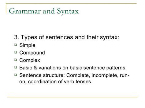 sentence pattern variations teaching grammar