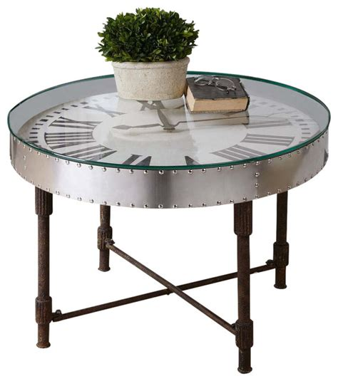 shop houzz uttermost uttermost cassem clock coffee table