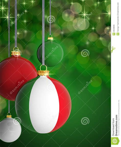 christmas balls  italian flag royalty  stock photo image