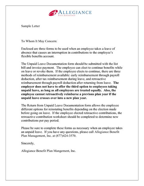 Business Letter Format Exle To Whom It May Concern business letter sle to whom it may concern cover letter