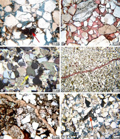 calcite cement in thin section a ferroan calcite cement blue with pre compaction