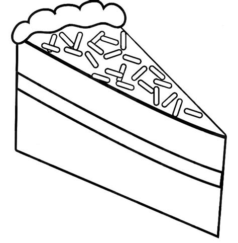 Chocolate Cake Coloring Page | cake slice with chocolate topping coloring pages cake