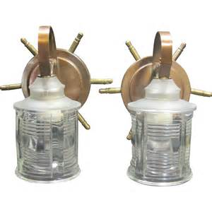 Nautical Wall Sconce Pair Of Vintage 1940 S Ship Wheel Nautical Wall Sconces From Rubylane Sold On Ruby