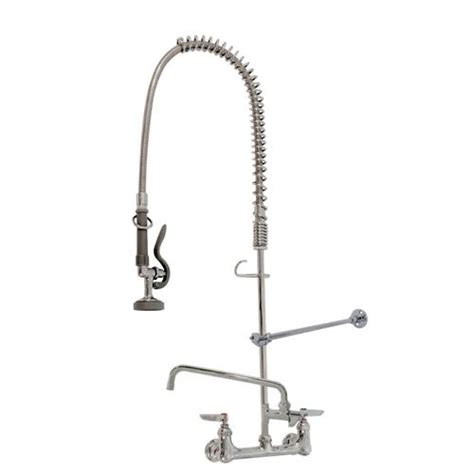T And S Brass Faucets by T S Brass B 0133 Adf12 B Wall Mount Pre Rinse W