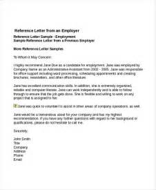 Employment Recommendation Letter Exle Reference Letter Articleezinedirectory