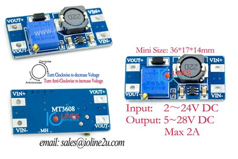 Mt3608 Dc Dc 2a Step Up Boost Converter Module Mini Power Booster mt3608 2a dc dc step up power supply end 5 28 2019 2 51 am