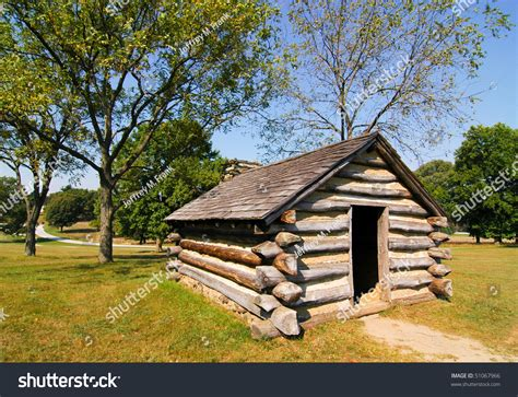 Valley Forge Log Cabins by Log Cabin At Valley Forge Stock Photo 51067966