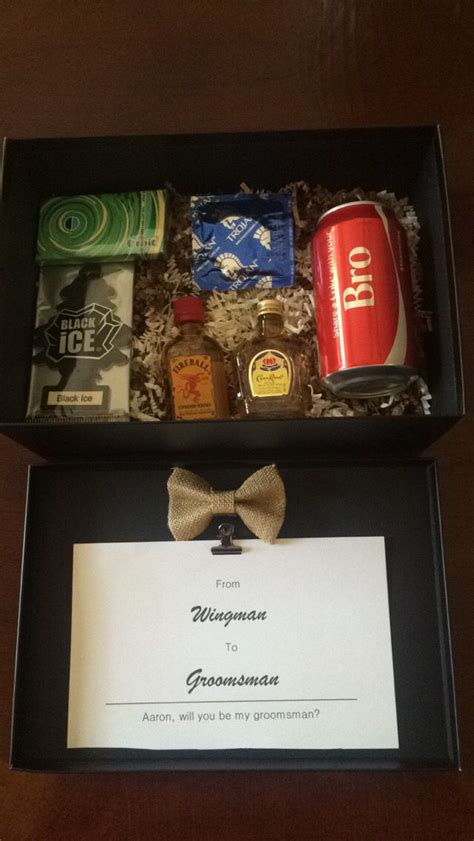 Handmade Groomsmen Gifts - diy will you be my groomsman gift caleb