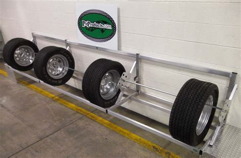 Tire Rack Trailer Tires by Pit Products 9 Ft Deluxe Universal Tire Rack