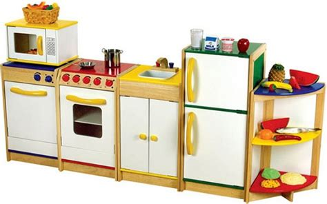 Toddler Wooden Kitchen Set by White Wooden Play Kitchen Set With Rack Furniture