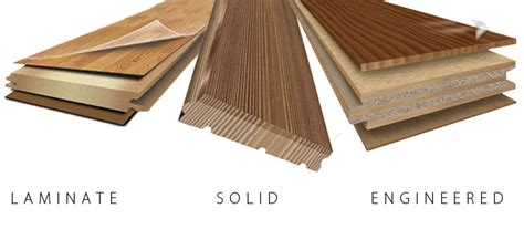 hardwood floor vs laminate solid vs engineered flooring