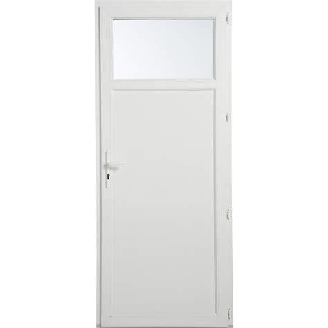 porte de 90 cm porte de service pvc poussant droit h 200 x l 90 cm leroy merlin