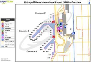 Chicago Midway Airport Map by Chicago Chicago Midway International Mdw Airport