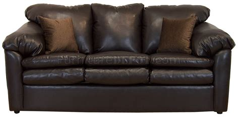 brown bonded leather modern sofa loveseat w options