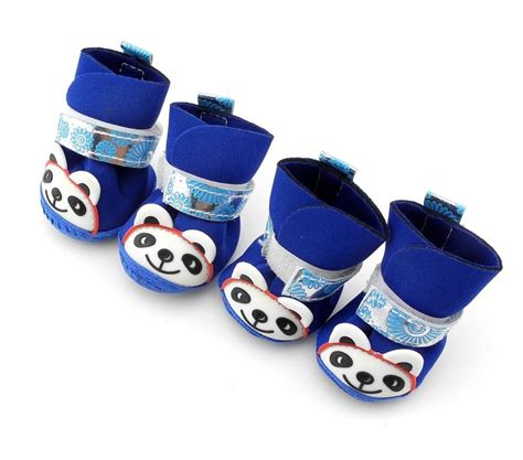dogs walking in shoes panda pet walking shoes boots booties 5 size for small dogs anti slip ebay