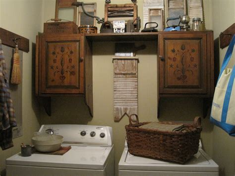 Country Laundry Room Decorating Ideas Laundry Primitive Decorating