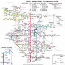 Los Angeles Transit Map los angeles california public transportation map los