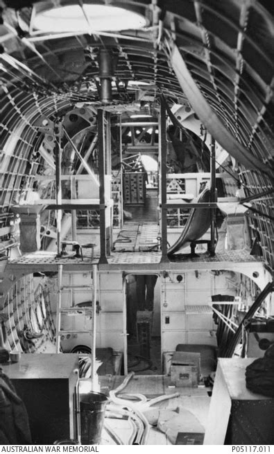 Interior of a Short Sunderland Flying Boat used by 10