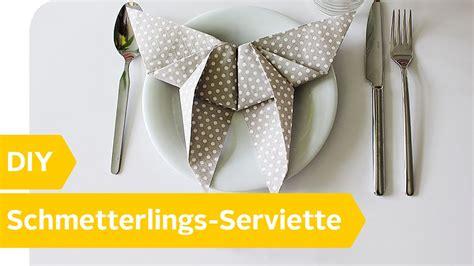 Serviettenform Schmetterling by Servietten Falten Der Schmetterling Diy Anleitung