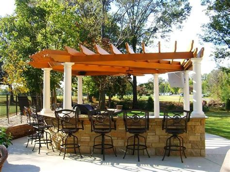 Backyard Grill Bar by Outdoor Grill With Purgola Patio Kitchens Pergolas