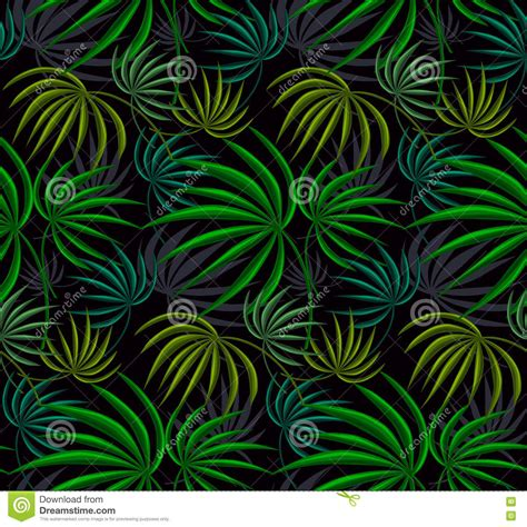 jungle pattern texture jungle leaves green texture stock illustration