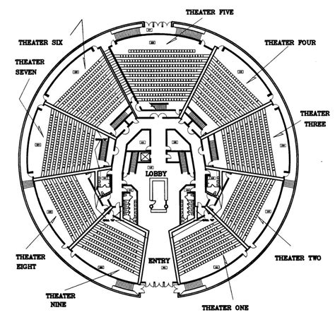 Movie Theater Floor Plan | now playing the 21st century movie theater monolithic dome institute