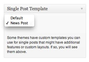 custom single post template how to create custom post page templates