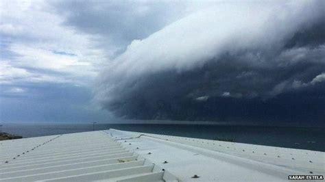 Shelf Cloud Sydney by Timelapse Footage Shows Shelf Cloud Rolling Into Sydney News