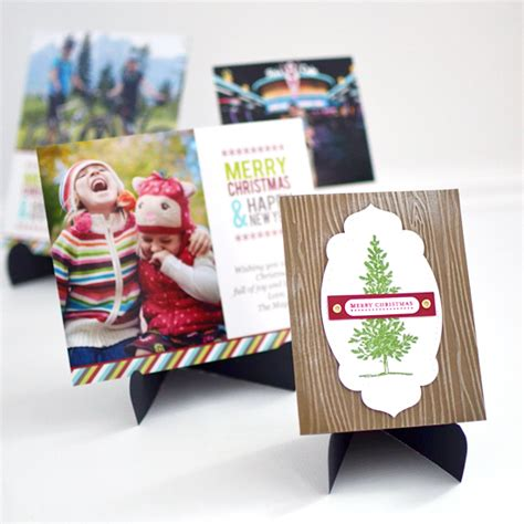 display cards and with a paper easel make