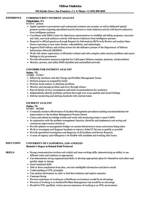 Noc Analyst Sle Resume by Noc Analyst Resume Sles Velvet Change Consultant Cover Letter