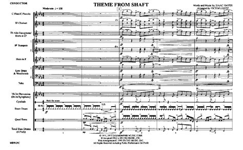 theme song shaft theme from shaft arr victor lopez j w pepper sheet music