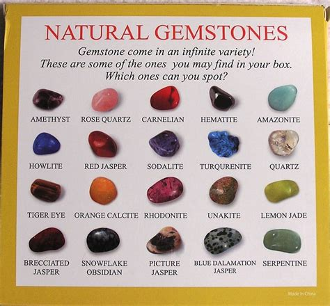 gemstones selection box of 25 sles learn