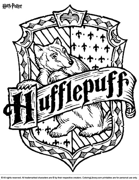 m hogwarts logo coloring page detailed coloring pages