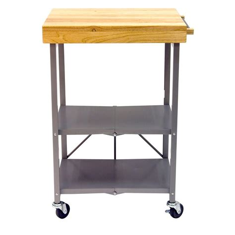 kitchen island carts origami 26 in l x 20 in w foldable kitchen island cart