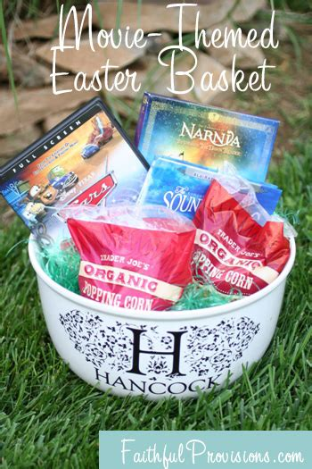 adult easter basket ideas how to make easter baskets easier try a movie themed