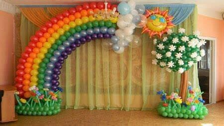 birthday balloon rainbow gate rs  day mahan creation
