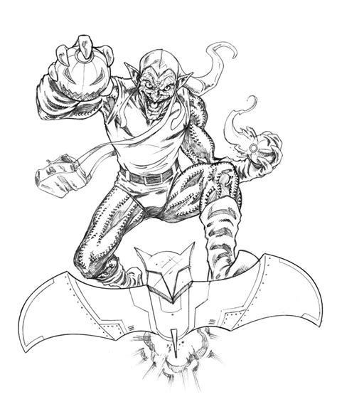 Green Goblin Coloring Page my