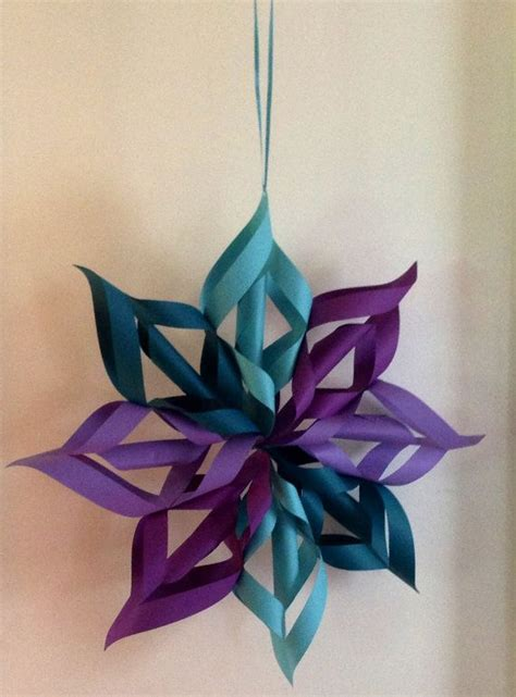 Hanging Origami - origami flower snowflake hanging decoration