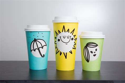 doodle starbucks mug starbucks new cups are not easter cups eater