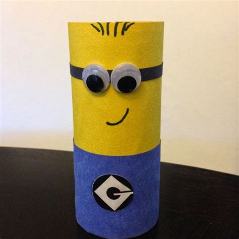 Recycled Toilet Paper Roll Crafts - easy despicable me minion children s craft using a
