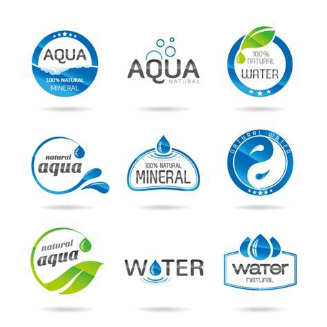 water label design vector preview 9 water element logo design vector